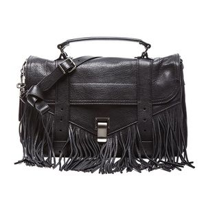 PROENZA SCHOULER Medium PS1 Fringe Bag in Black